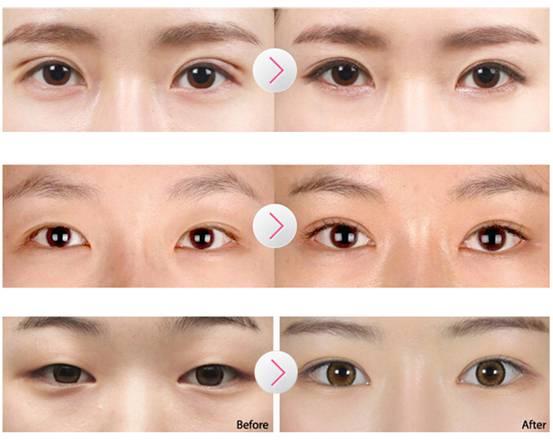 画眼线,双眼皮的朋友完全省了这个步骤