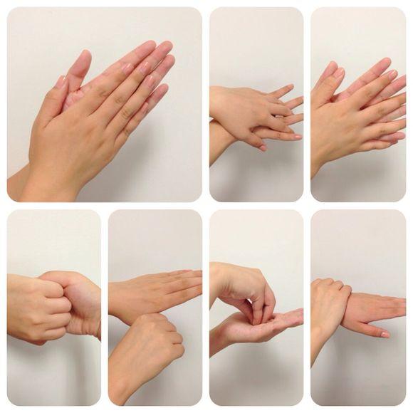 七步洗手法图示