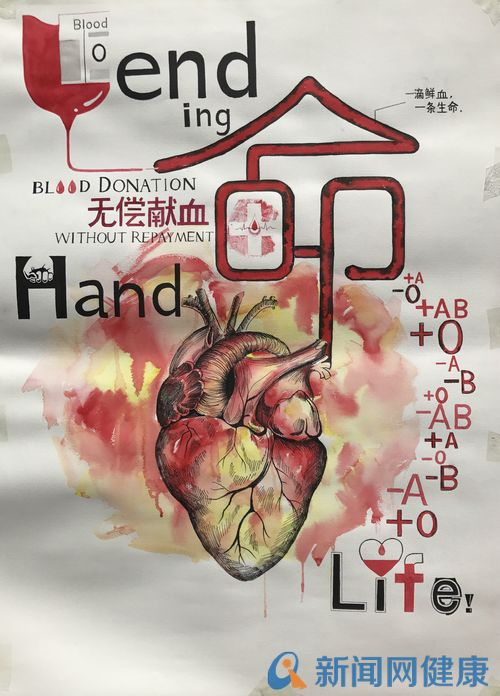 无偿献血手绘海报设计大赛旨在宣传无偿献血,弘扬社会博爱精神,倡导